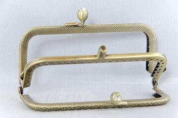 Portemonnee sluiting 10,5cm brons met dubbele sluiting