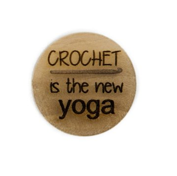 Houten knoop 2.5cm Crochet is the new YOGA