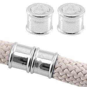 Magneetsluiting rond 10mm antiek zilver