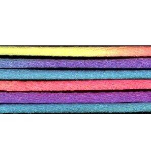 Kumihimo satijnkoord 3mm, kleur regenboog