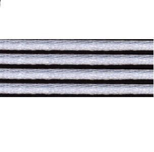 Kumihimo satijnkoord 3mm, kleur lichtgrijs
