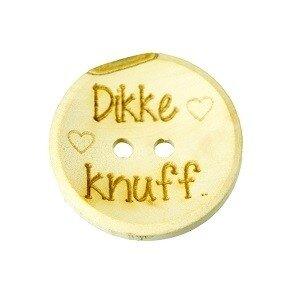 Houten knoop 2,5 cm Dikke knuff