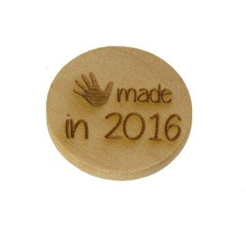Houten knoop 3cm Handmade in 2016