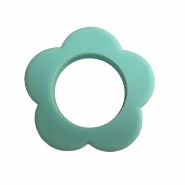 Bloemen bijtring turquoise