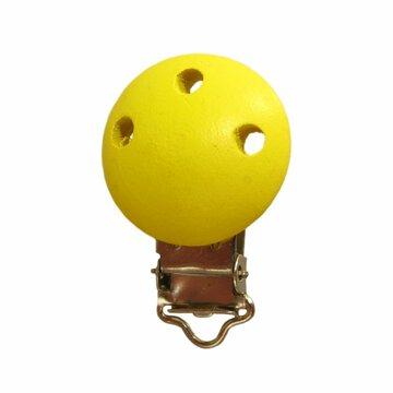 Speenclip hout geel