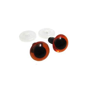 Veiligheidsoogjes amber 2 paar