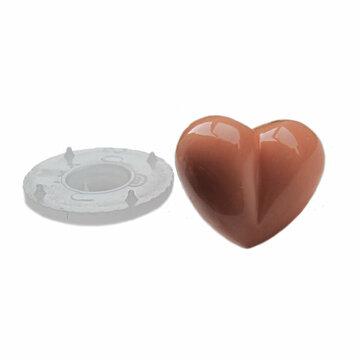 Veiligheidsneusjes hartje huidskleur 4 stuks