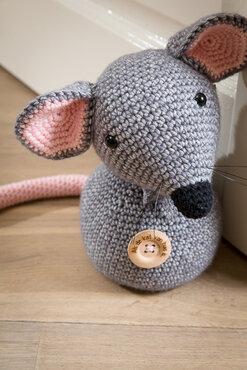 Haakpakket onderdelen deurstopper muis