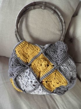 Patroon granny square tas