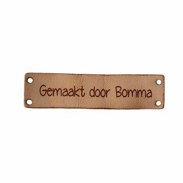 Leren label 6x1,5 cm Gemaakt door Bomma