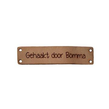 Leren label 6x1,5 cm Gehaakt door Bomma