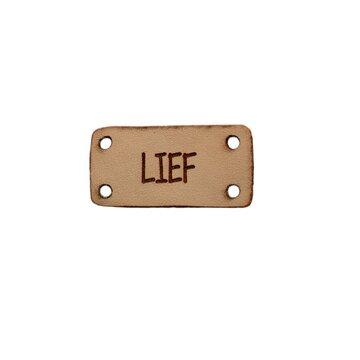 Leren label 3x1,5 cm Lief