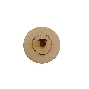 Houten knoop 2 cm Schaapje