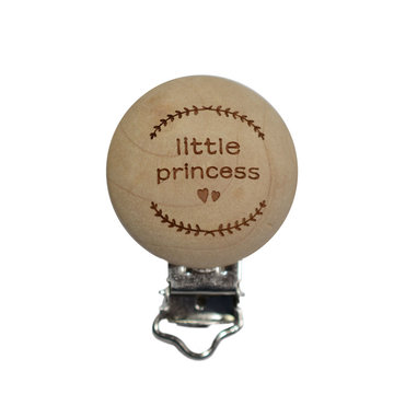 Speenclip hout Little Princess