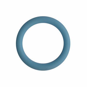 Siliconen ring 3 cm lichtblauw