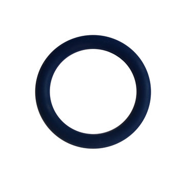 Siliconen ring 3 cm blauw