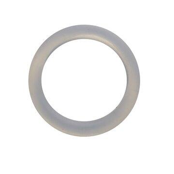 Siliconen ring 3 cm transparant