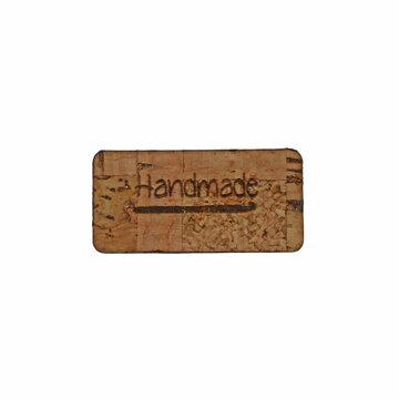 Kurk label 1,5 x 3 cm Handmade