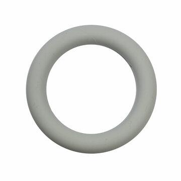 Bijtring siliconen 7 cm lichtgrijs