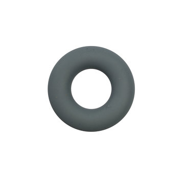 Siliconen donut 4,5 cm grijs