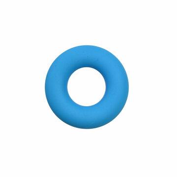 Siliconen donut 4,5 cm blauw