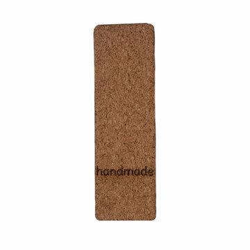 Kurk label 2,5 x 8 cm Handmade