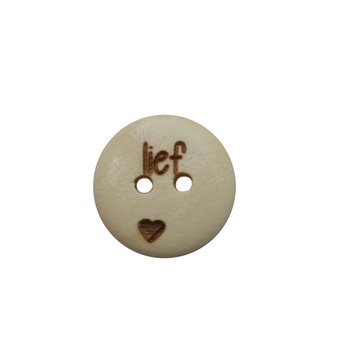 Houten knoop 1,5 cm Lief