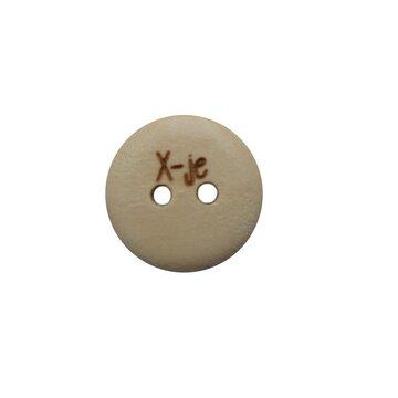 Houten knoop 1,5 cm Xje