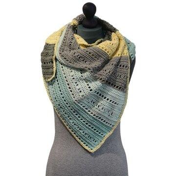 Haakpakket sjaal/omslagdoek Giza