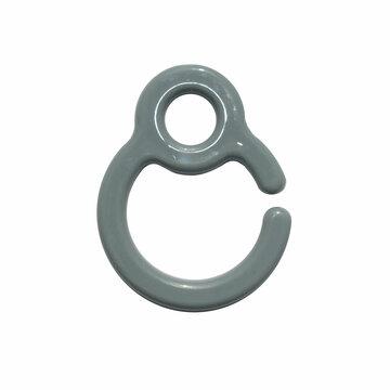 Kunststof speenkoord clip/ring grijs