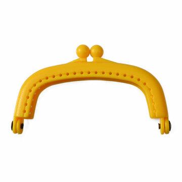 Portemonneesluiting geel kunststof 9cm