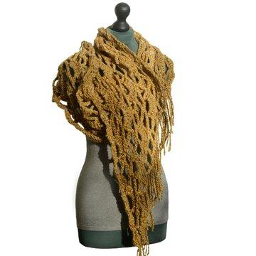 Haakpakket sjaal Stout
