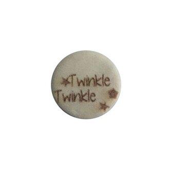 Houten knoop 15mm Twinkle twinkle