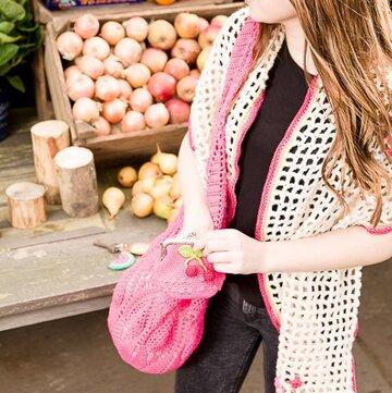 Patroon gehaakte omslagdoek met bloemen Haken&sfeer