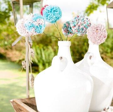 Patroon bloem pompons Haken&sfeer