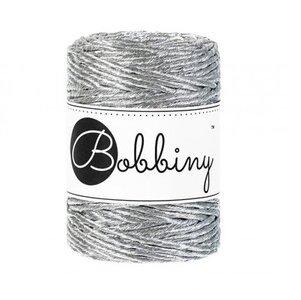 Bobbiny macrame metalic silver