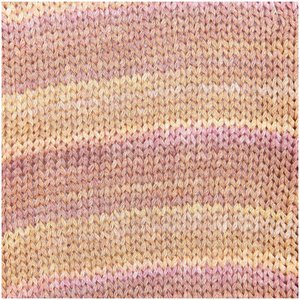 Creative cotton colour coated vanille/rose