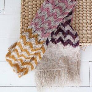 Breipakket sjaal Alpaca Amelie