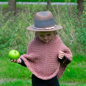 Haakpakket kinderponcho Soft Wool