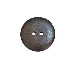 Houten knoop donkerbruin 2,5cm