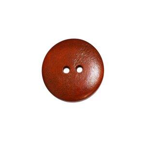 Houten knoop roodbruin 2cm