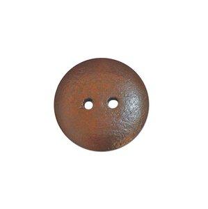 Houten knoop bruin 2,5cm
