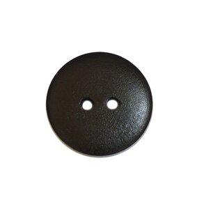 Houten knoop zwart 2cm