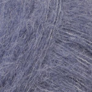 Alpaca Silk brushed denimblauw