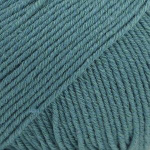 Cotton merino stormblauw