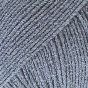 Cotton merino denimblauw