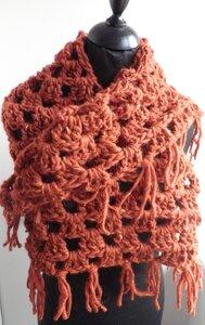 Patroon triangle granny sjaal