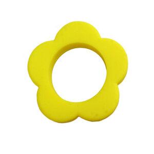 Bijtring bloem geel