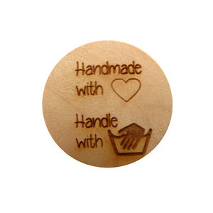 Tekst knoop Handmade with love, handle with care