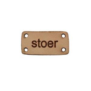 Leren label Stoer